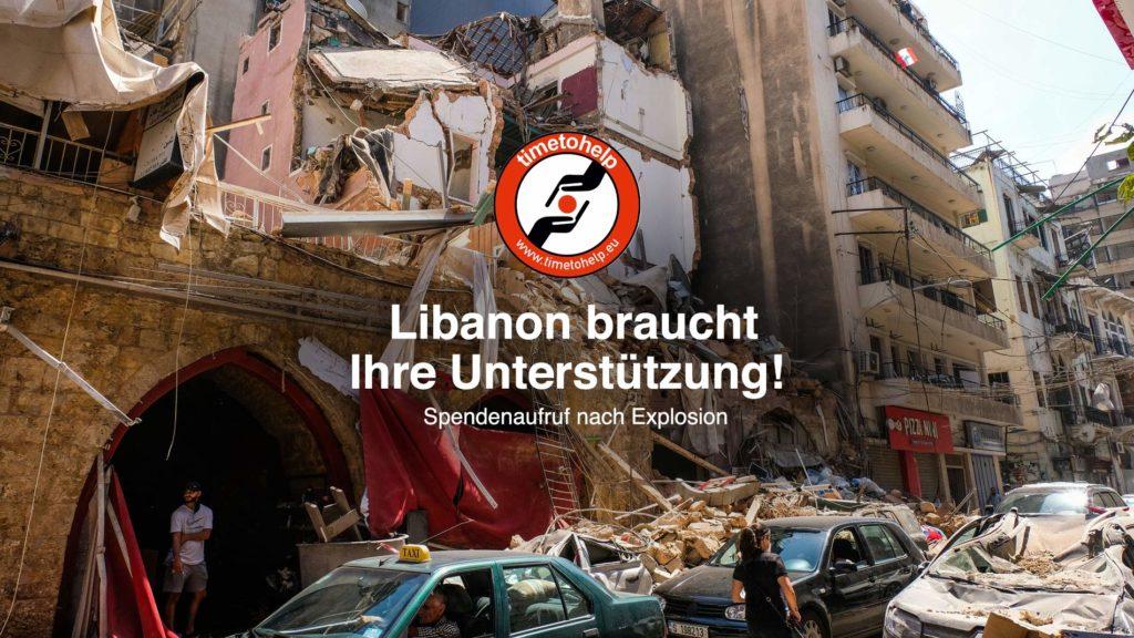 Nothilfe für den Libanon. Jetzt online spenden. Time to Help e.V.